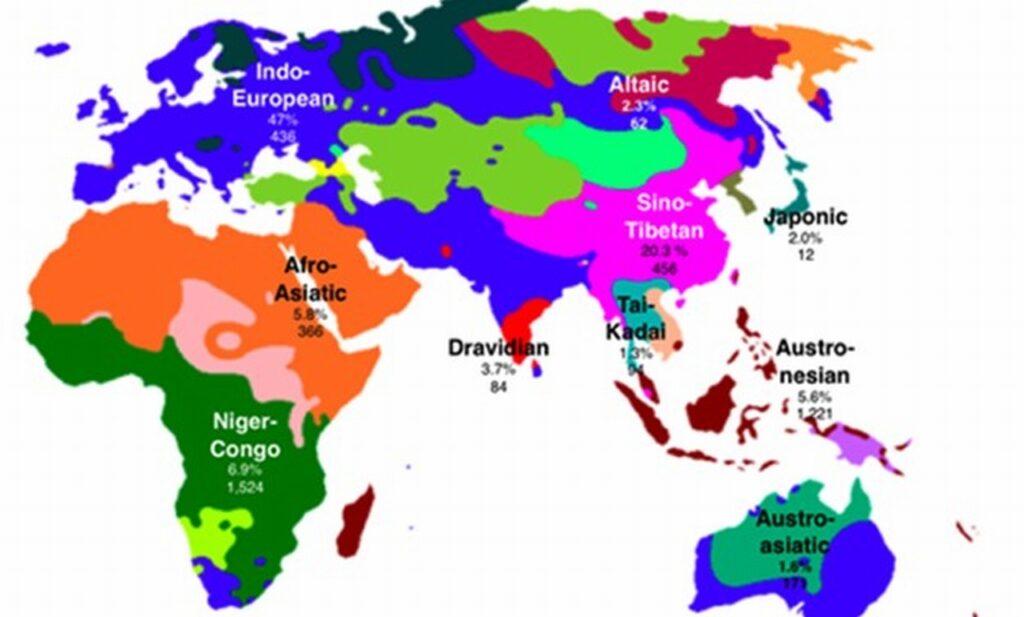 世界の語族マップ